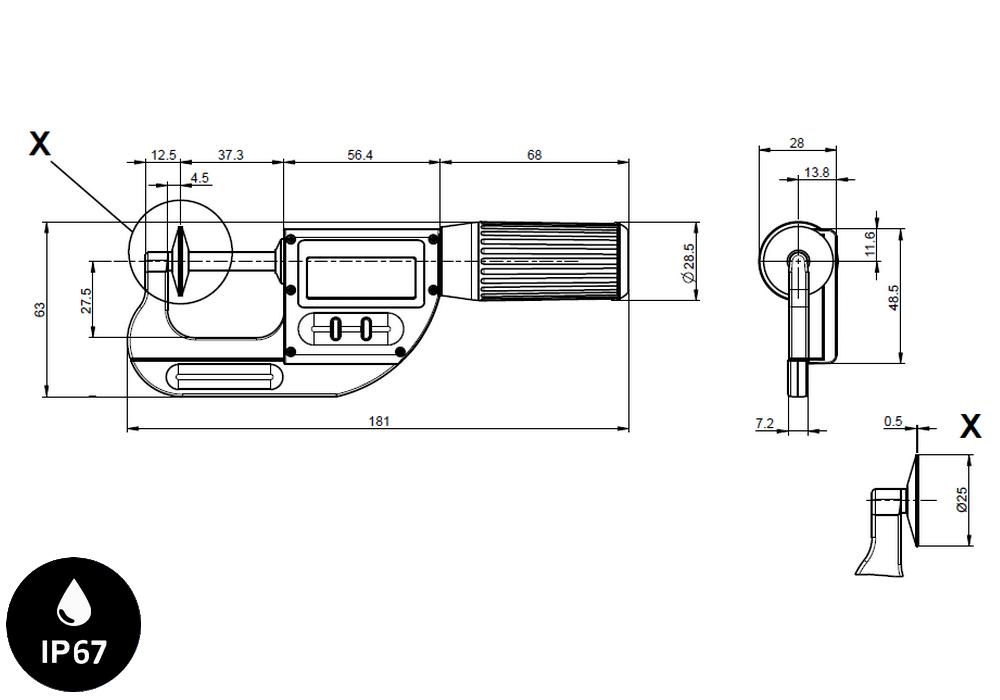 Micromètre professionnelle Sylvac modèle S_Mike Pro Touches-disques