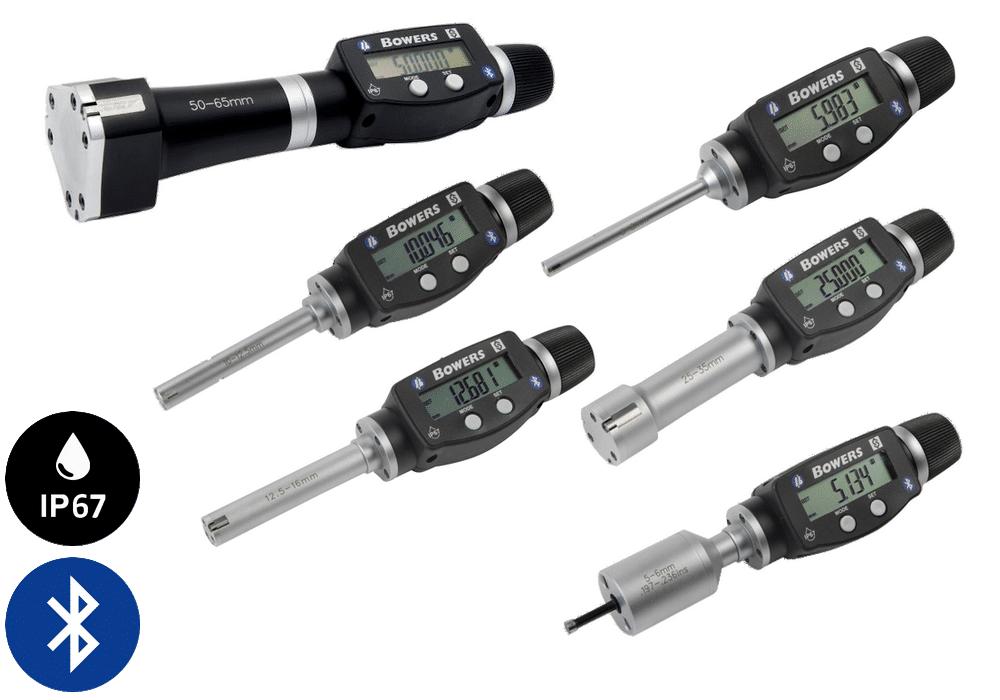 Micromètre d'Intérieur Digital XT3 avec Bluetooth - métrique Bowers