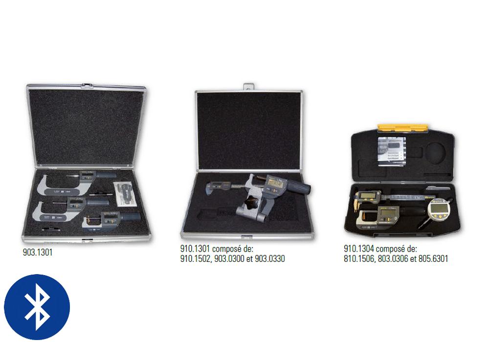 Jeux de micromètre et pied à coulisse professionnels de la gamme Sylvac