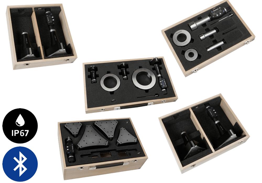 Jeux de Micromètres Digitaux XT3 avec Bluetooth - métrique Bowers
