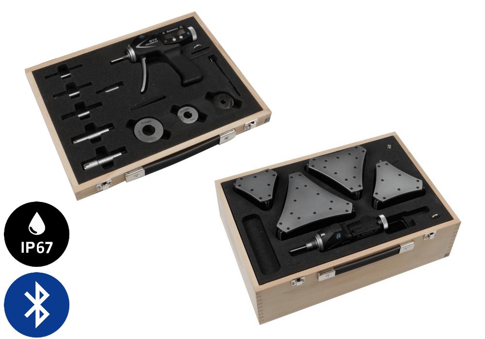 Jeux complets de micromètres à poignée pistolet XT3 avec Bluetooth - métrique Bowers