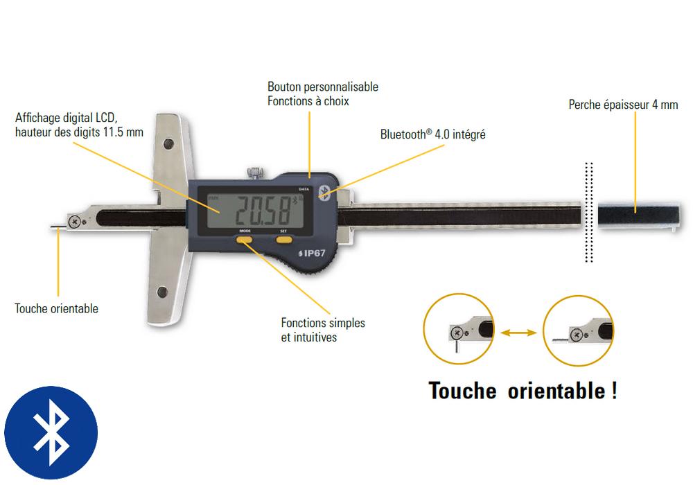 Jauge de profondeur Sylvac modèle S_Depth Evo Rotary Pin