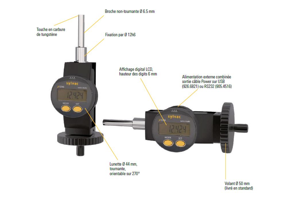 Vis Micrométriques digitales de la gamme Sylvac