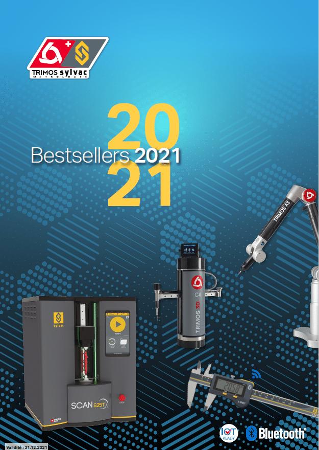Le catalogue Bestsellers 2021 regroupant tous les produits proposés par Trimos Sylvac France