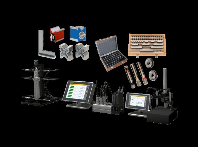 Large gamme : Calibres de contrôle, palpeurs et unités d'affichage, petits et moyens instruments